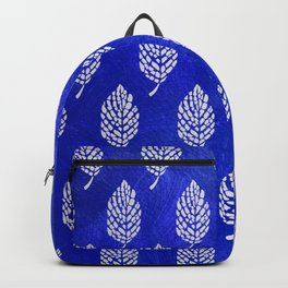 Abstract Tropical Leaf Motif Pattern Backpack