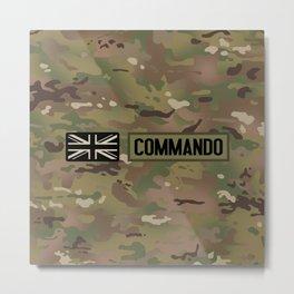 British Flag: Commando (Camo) Metal Print