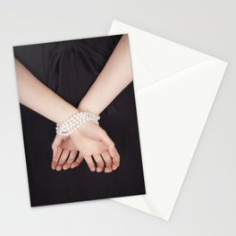 Tied with pearls Stationery Cards