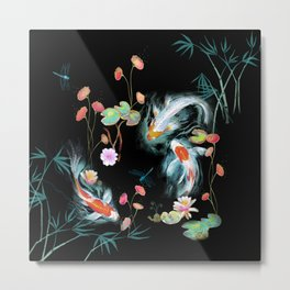 Japanese Water Garden Metal Print