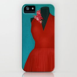 The Red Dress iPhone Case