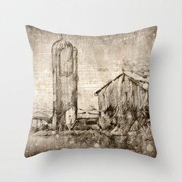 A Family Farm Throw Pillow