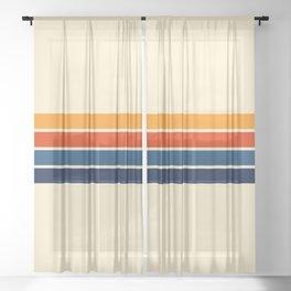 Classic Retro Stripes Sheer Curtain
