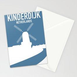 Kinderdijk , Netherlands windmill vacation poster. Stationery Cards