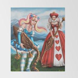 Steampunk Gothic Lolita Alice Croquet Throw Blanket