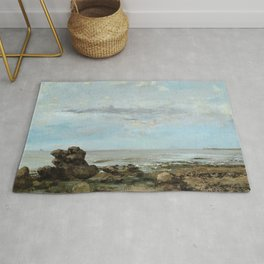 "Gustave Courbet ""The Beach at Trouville"" Rug"