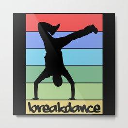 Retro Breakdance Metal Print