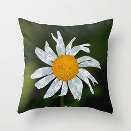 Diamond Sparkle Daisy Throw Pillow