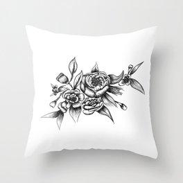 Flower Arrangement 01 Throw Pillow
