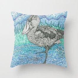 Sally's Shoebill Throw Pillow