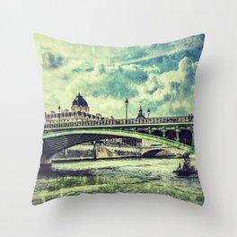 SEINE RIVER Throw Pillow