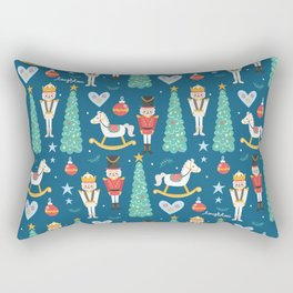 Nutcrackers under the Christmas Tree Rectangular Pillow