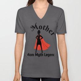 Mom Myth Legend Mother's Day Unisex V-Neck