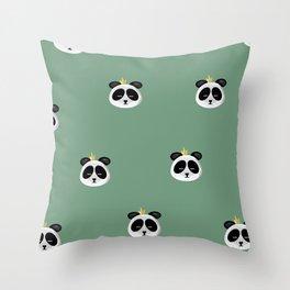 Sleepy panda Throw Pillow