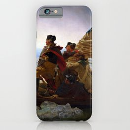 Washington Crossing the Delaware by Emanuel Leutze (1851) iPhone Case