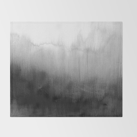Modern Black and White Watercolor Gradient by blackstrawberry