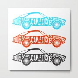 A Fast Sport Car Metal Print