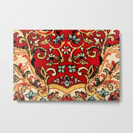 Detail of a vintage carpet. Fluffy texture pattern Metal Print