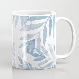 Muted Blue Palm Leaves Kaffeebecher