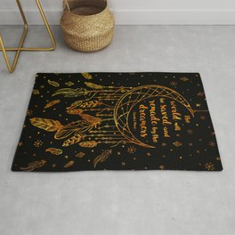 Saved and Remade - gold Rug