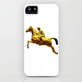 Horse Rider Gold iPhone Case