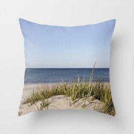 Bornholm Island Sea View Throw Pillow