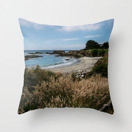 Sea Ranch Beach Printable Wall Art   California Nature Ocean Coastal Travel Photography Print Throw Pillow