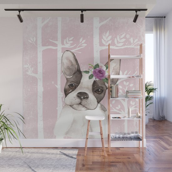 Animals in Forest - The little French Bulldog by cute4kids
