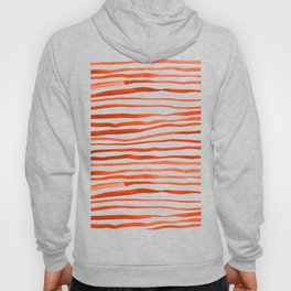 Irregular watercolor lines - orange Hoody