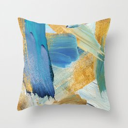 Easterly Abstract Throw Pillow