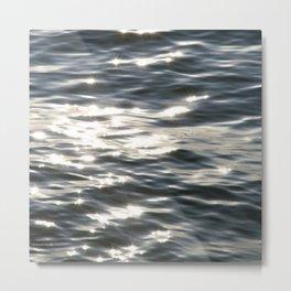 Blue Sea Sparkle | Photography Landscape | Water | Minimal Art Metal Print
