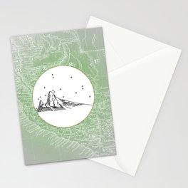 Machu Picchu, Peru, South America - Seven New Wonders Skyline Illustration Drawing Stationery Cards