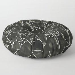 Suspicious Cats Floor Pillow