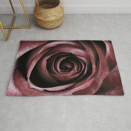 Decorative Red Rose Floral Rug