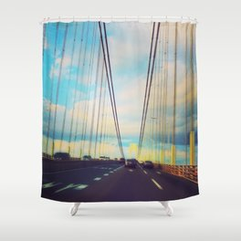 Changing Lanes Shower Curtain