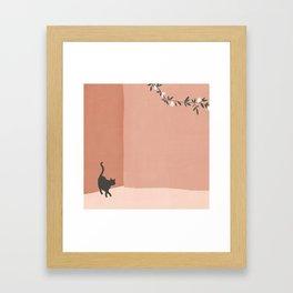 little visitor Framed Art Print