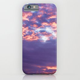 Red sunset on Rome iPhone Case