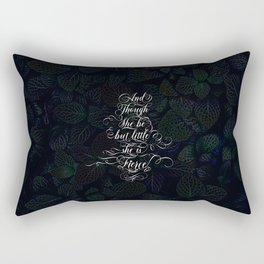 And though she be but little she is fierce (Dark Gothic Leaves) Rectangular Pillow