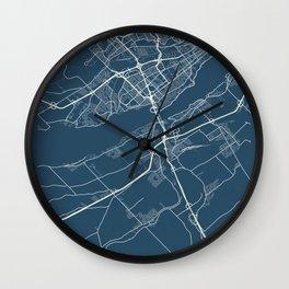 Levis Blueprint Street Map, Levis Colour Map Prints Wall Clock