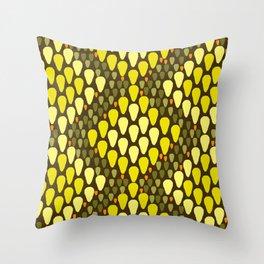golden snakeskin Throw Pillow