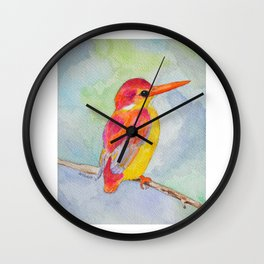 Rufous-backed Kingfisher Wall Clock