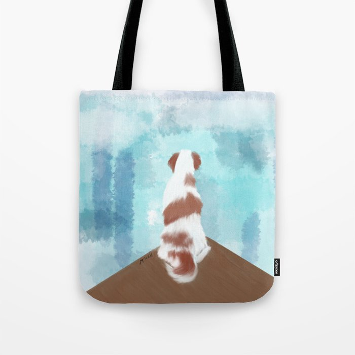 Deschutes The Brittany Spaniel Tote Bag