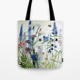 Wildflower in Garden Watercolor Flower Illustration Painting Umhängetasche