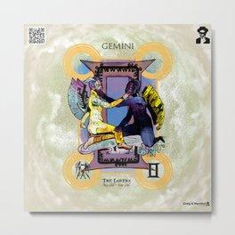 "Ars Tarot of the 12 Zodiac: ""Gemini - The Lovers"" Metal Print"