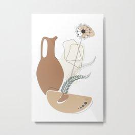 Terracotta Ware Metal Print