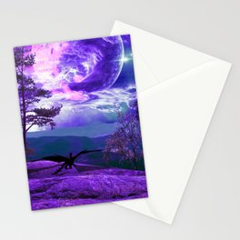 Lonely Dragon Stationery Cards