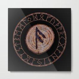 Ansuz Elder Futhark Rune Metal Print