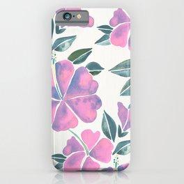 Hibiscus Boom – Iridescent Palette iPhone Case