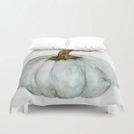 Blue-Gray Cinderella Pumpkin - Watercolor  Duvet Cover