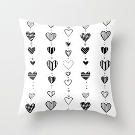Heart garlans Throw Pillow